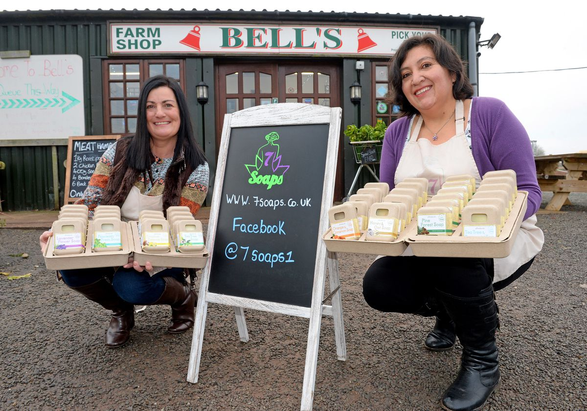 Karen Blanchfield and Xime Carrillo have been making soap for charity