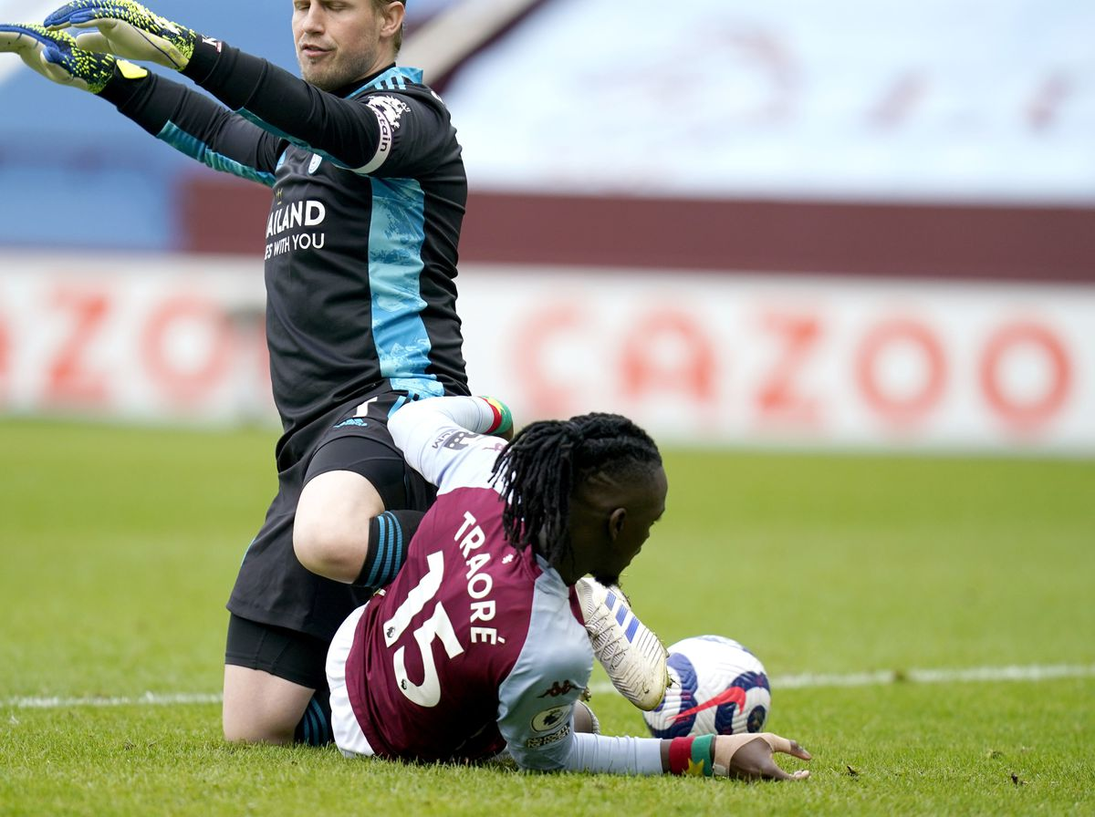 Aston Villa's Bertrand Traore scores their side's first goal of the game