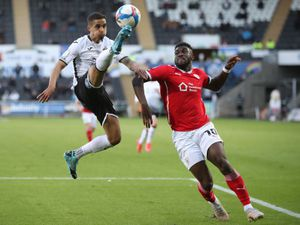 Daryl Dike in action for Barnsley last season against Swansea