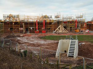 Work continues on the large number of homes being built off the A449, at Penkridge