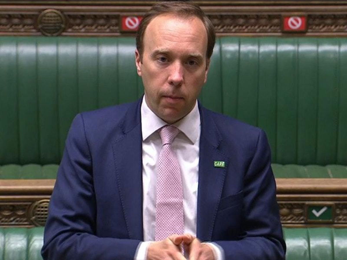 Health Secretary Matt Hancock speaking in the House of Commons