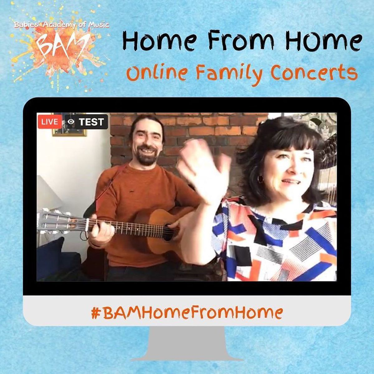 A test broadcast ahead of the BAM from home concert