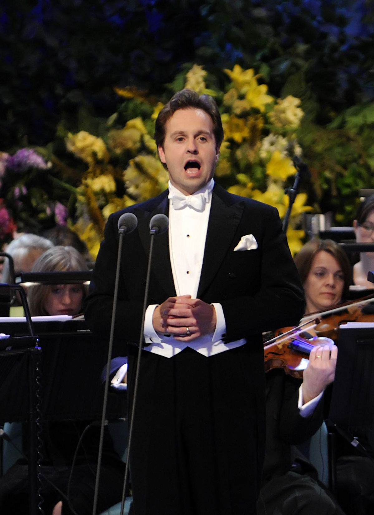 Lancashire-born tenor Alfie Boe performing at the Gala Night of the 62nd Llangollen International Musical Eisteddfod, on July 13, 2008