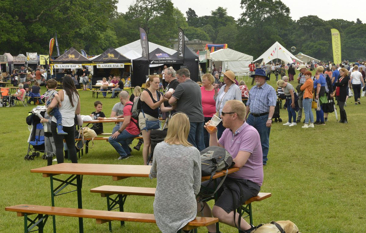 Crowds at the Great British Food Festival at Weston Park