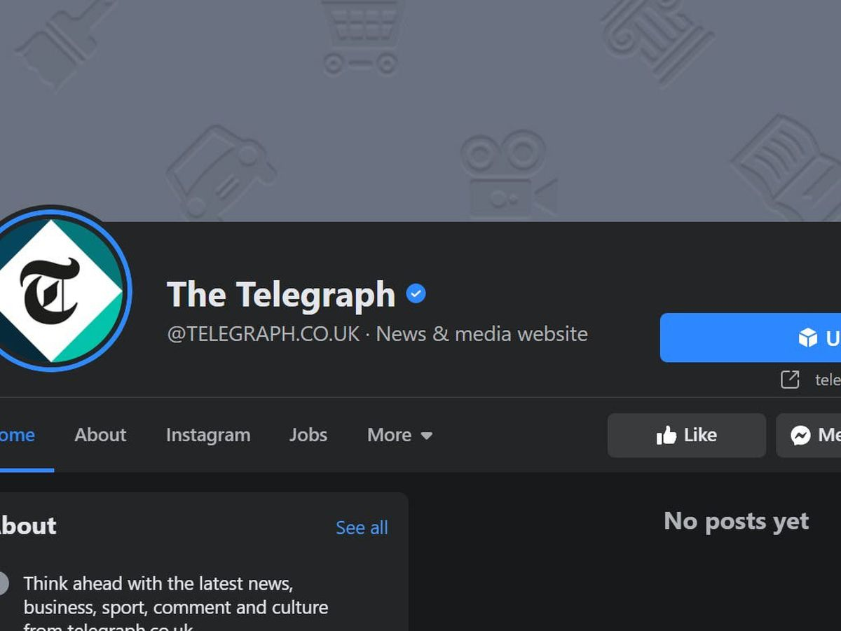 Telegraph's Facebook page
