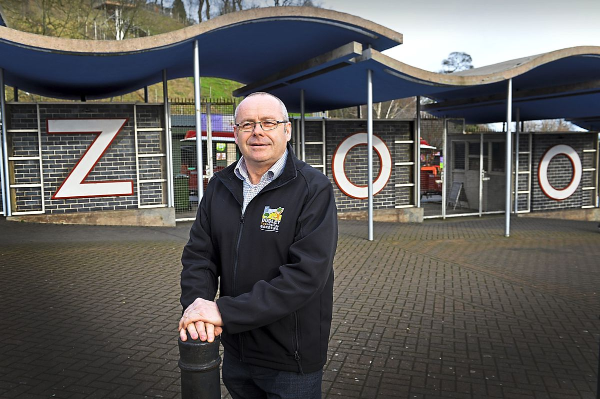 Dudley Zoo and Castle director Derek Grove outside the Castle Hill-based attraction's entrance
