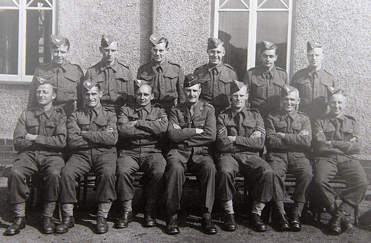 George standing second from right