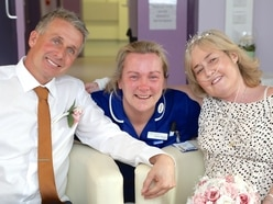 Dream comes true for terminally-ill cancer patient after New Cross Hospital wedding