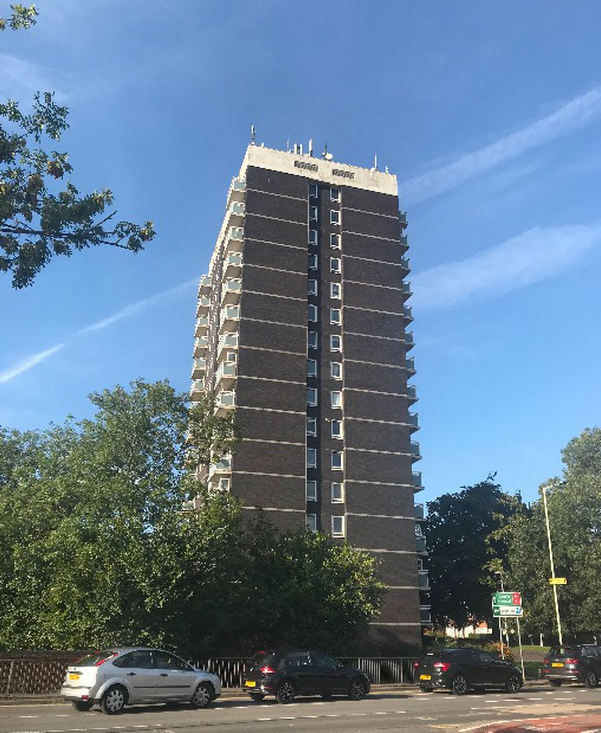Pennycroft Court flats in Stafford