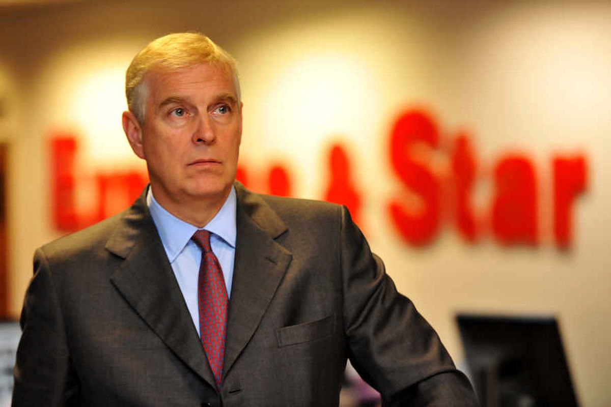Prince Andrew is a patron of Ladder for the Black Country and visited the Star's offices last year