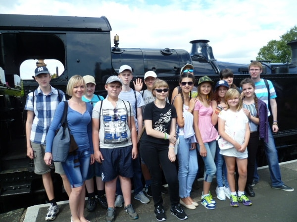 Chernobyl youngsters visit Shropshire's Severn Valley Railway