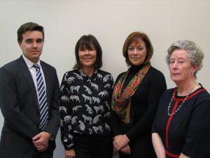 From left to right: Alexander Davidson, Tracey Garvey, Liz Monk, Debbie Blower