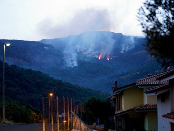 Fires rage through the countryside in Cuglieri, near Oristano, Sardinia (Alessandro Tocco/AP)