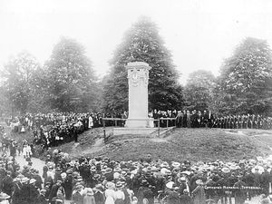 Flashback to the presentation of the clock to Tettenhall in June 1911