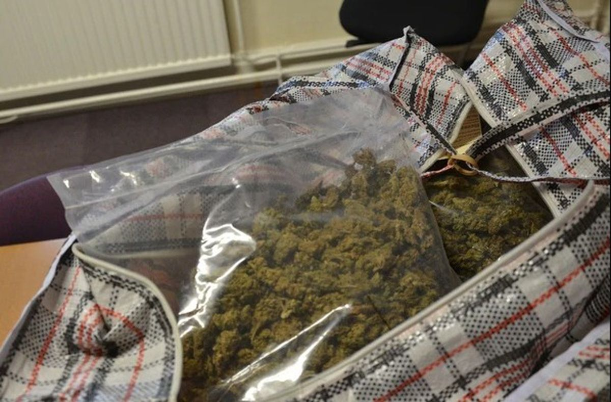 Some of the cannabis was hidden inside laundry bags