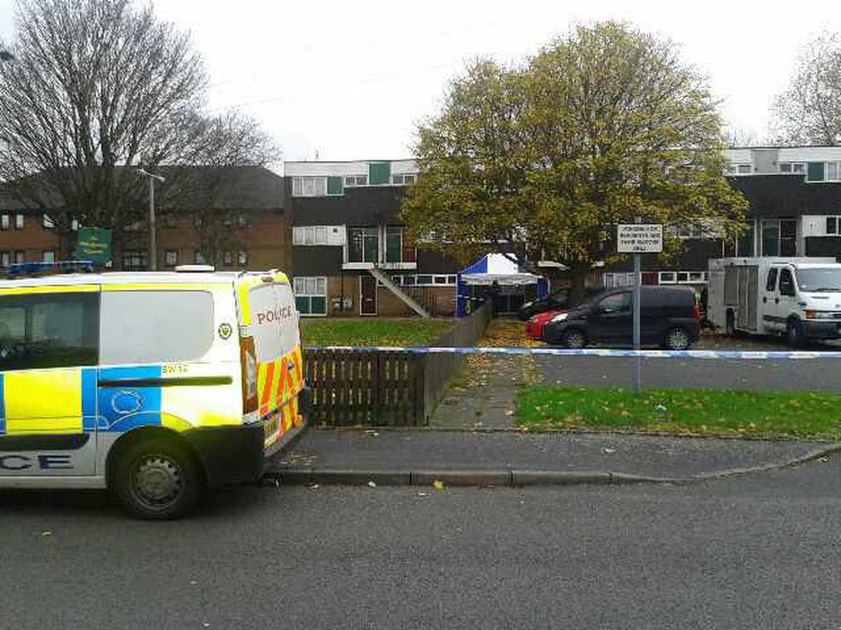 Police cordon in place around a flat in Great Bridge where a man's body has been found