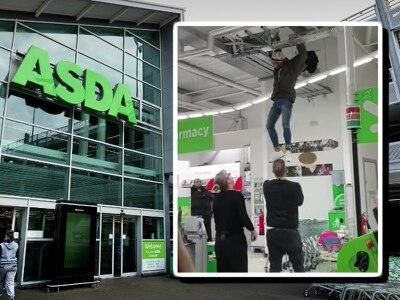 WATCH: Teenager in custody as Asda climbing incident stuns shoppers