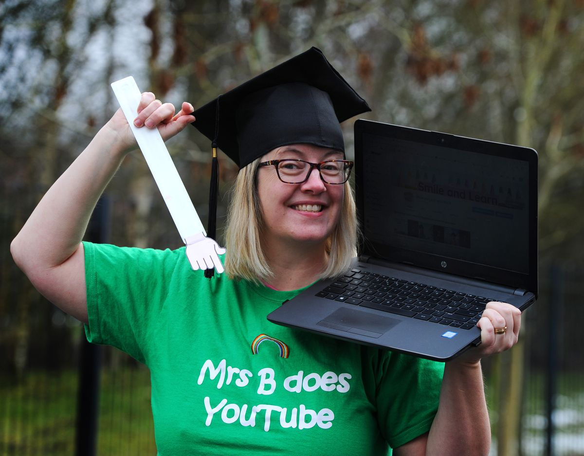 """Rachael Benton from Huntington has started a YouTube channel called """"Smile and Learn with Mrs B"""""""