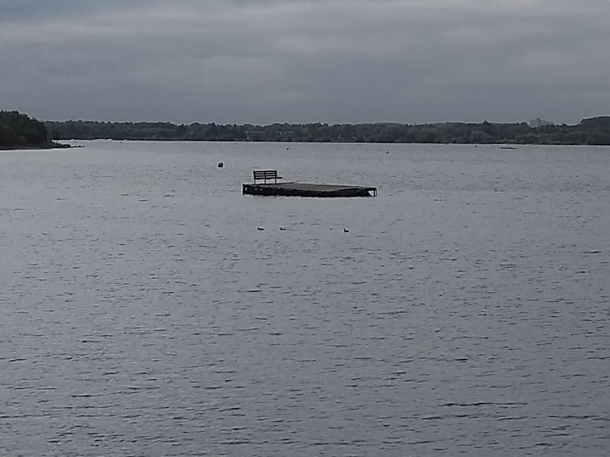 The pontoon at Chasewater