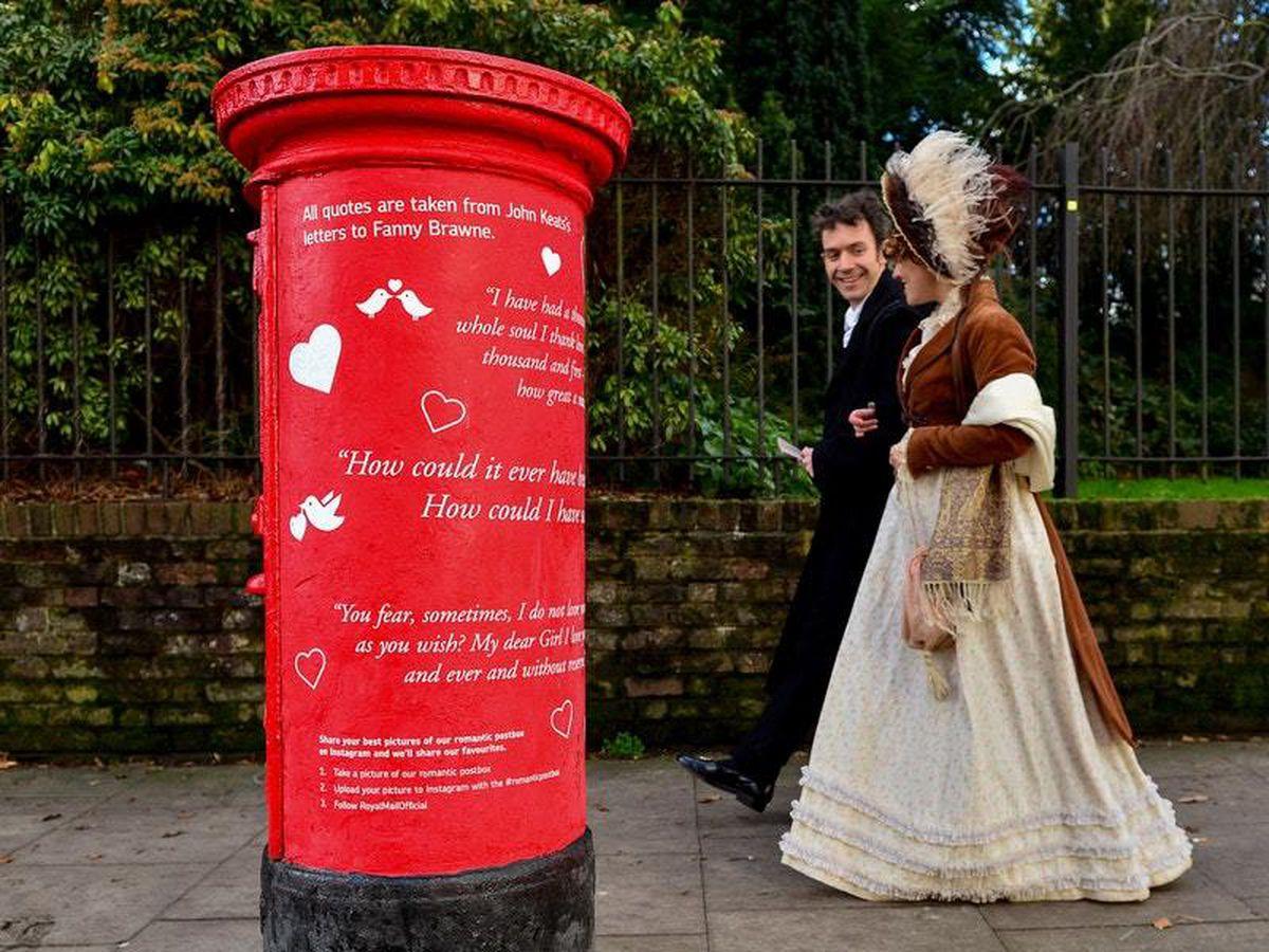 Royal Mail unveil romantic postboxes