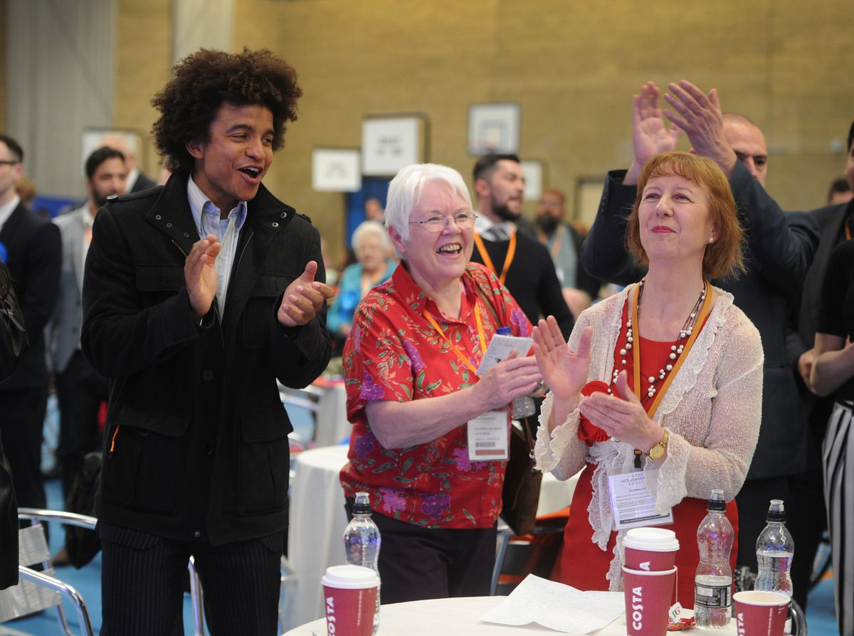 Radzi Chinyanganya, left, with his mother, newly-elected councillor Barbara McGarrity, right