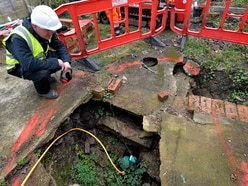 Experts return to sinkhole site outside Walsall homes