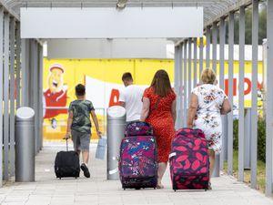 Airport passengers arriving