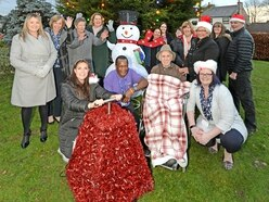BGT star helps light up Christmas for care home residents