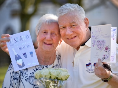 It was love at first sight for diamond couple Edna and Patrick