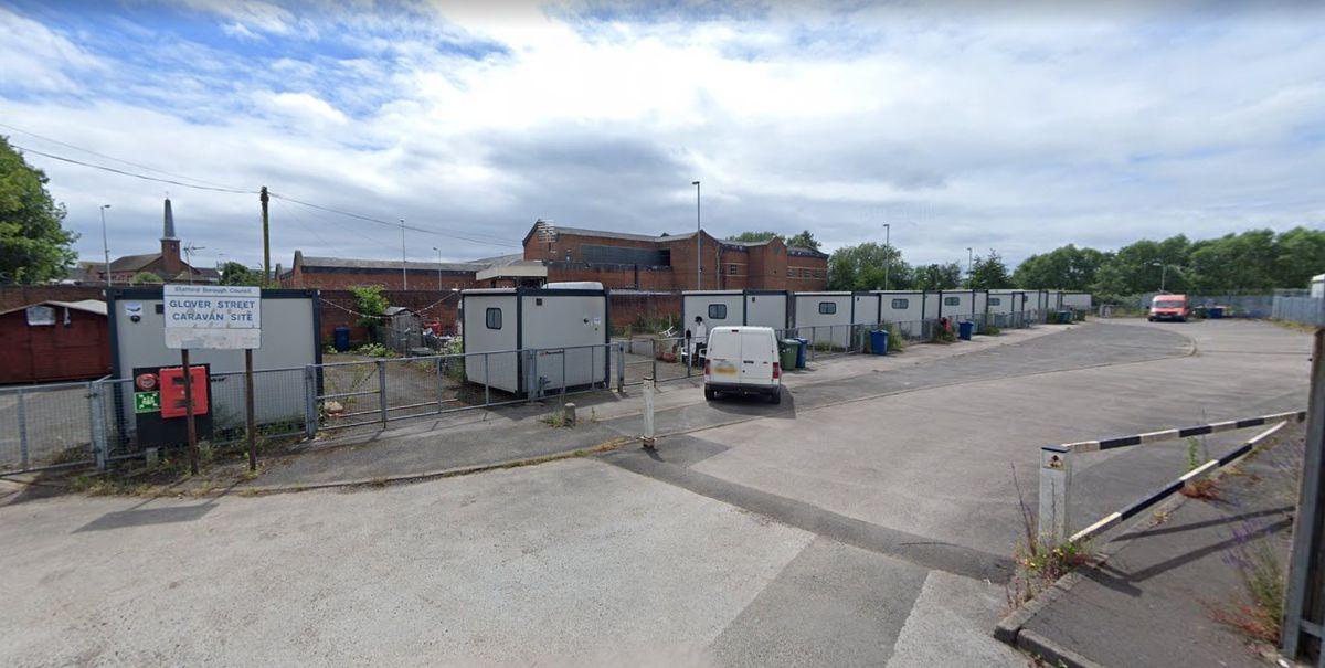 Glover Street Caravan Site in Stafford. Photo: Google Maps