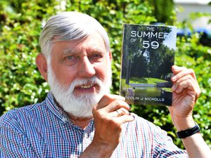 SANDWELL PIC/   DAVID HAMILTON PIC / EXPRESS AND STAR PIC 5/6/21 With his book The Summer of  '59, author Colin J Nicholls, of West Bromwich..