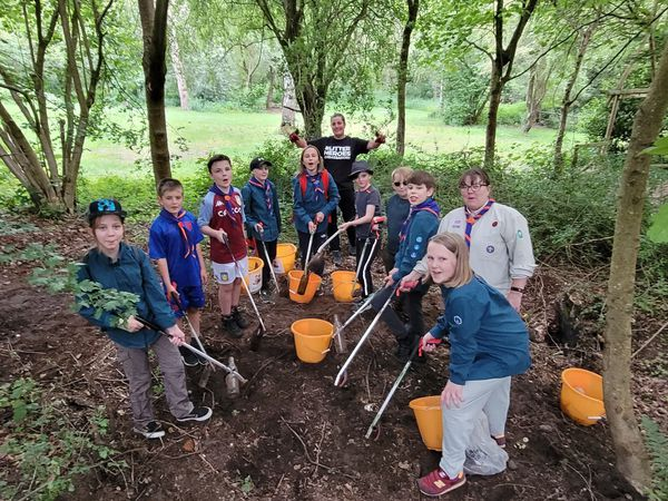 Scouts from the 14th Wyre Forest (Rhydd Covet) Troop picked up litter