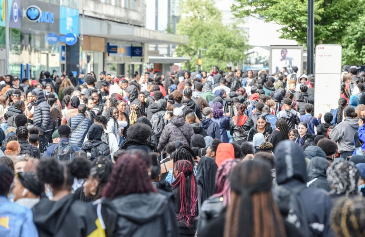 Hundreds of people flocked to Birmingham city centre to see Canking. Photo: SnapperSK