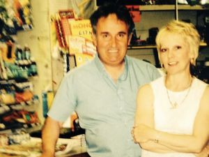 Rob and Glynis Andrews at their shop
