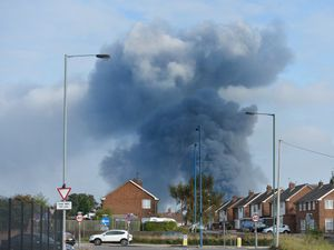 Smoke could be seen for miles around