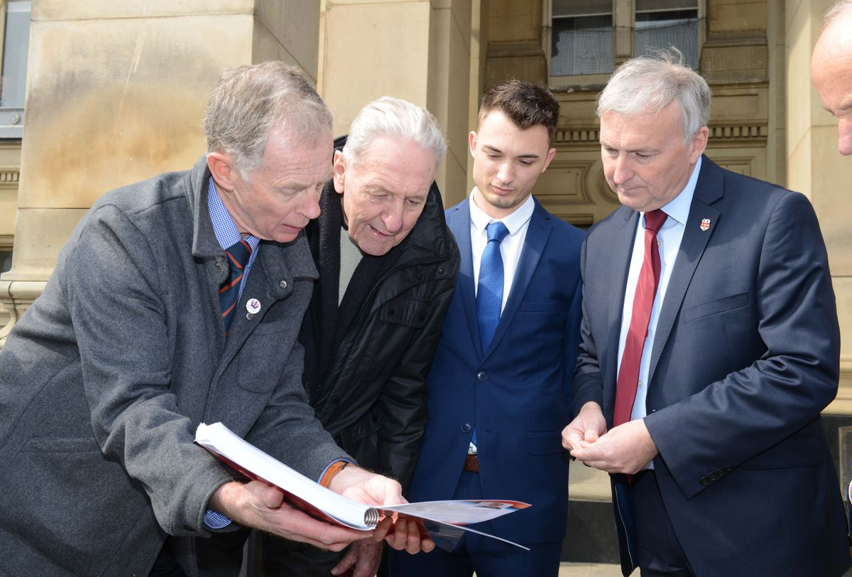 The petition was handed over at Birmingham City Council House yesterday