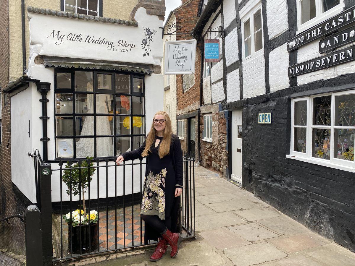 Jennifer Bone at My Little Wedding Shop, Bridgnorth