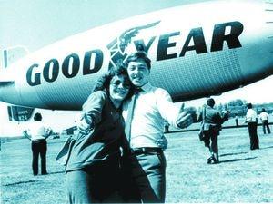 Julie and Steve Harris won a flight on the Goodyear airship Europa at the annual Wolverhampton press ball