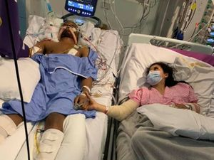 Shakur and Chante together in hospital