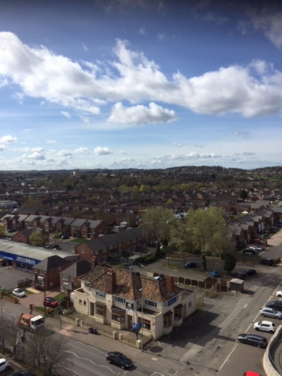 Overlooking the High Street from the Red House Glass Cone