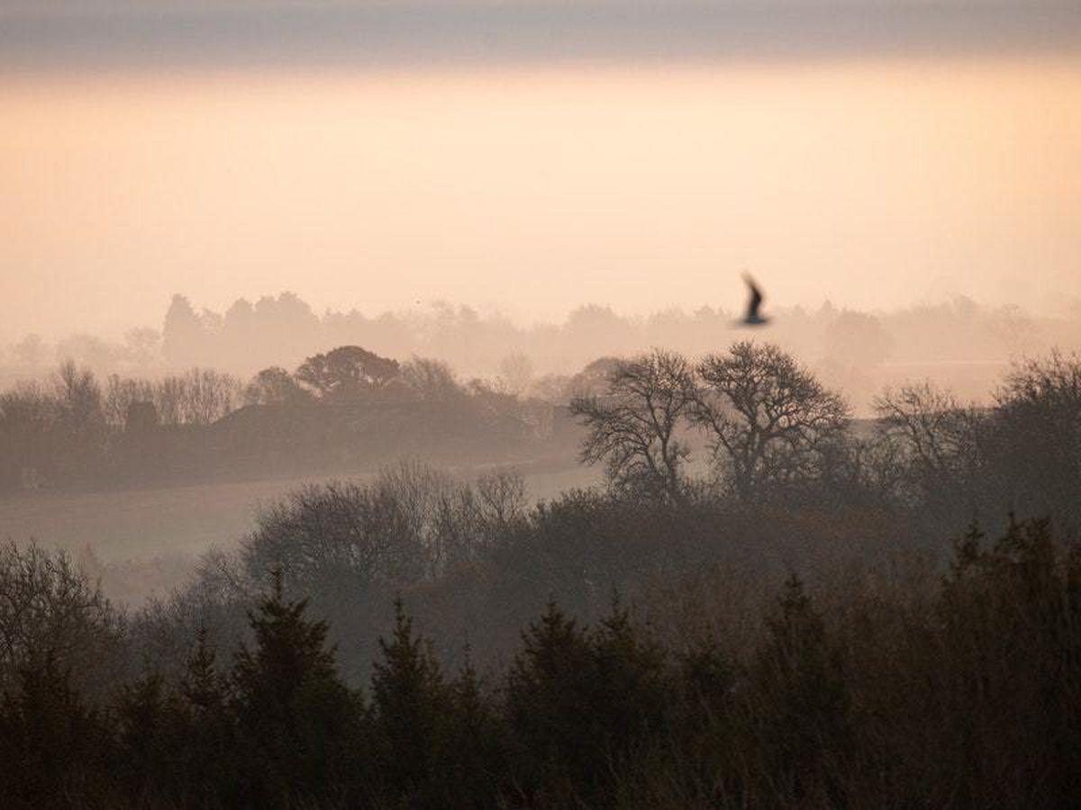 A morning over Burton Dassett Hills Country Park in Warwickshire