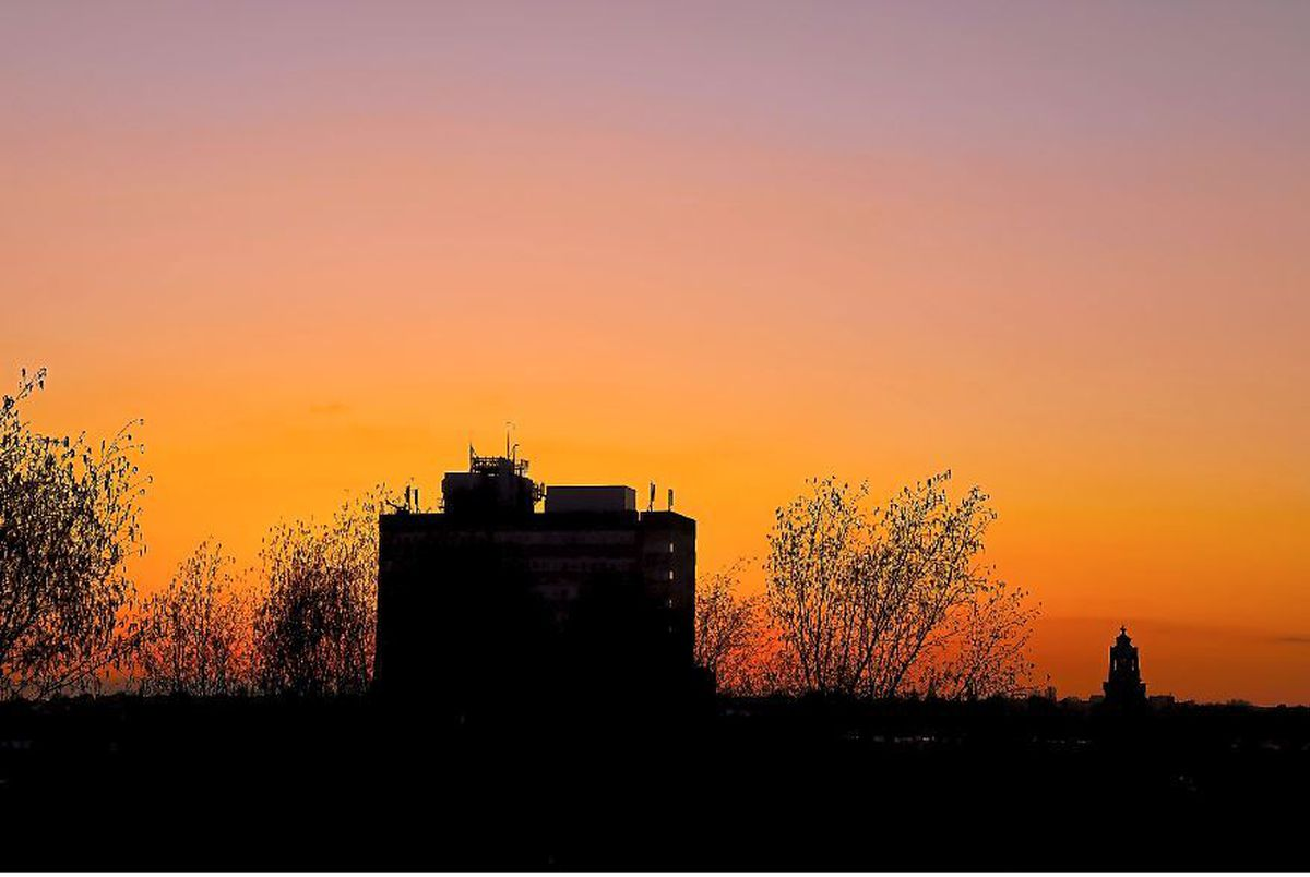 Sunset over Walsall, by Steven Kendrick