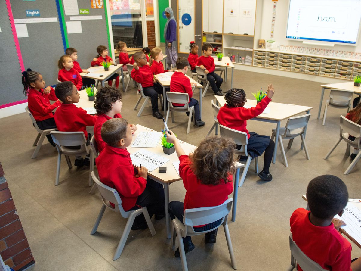 Pupils in a class