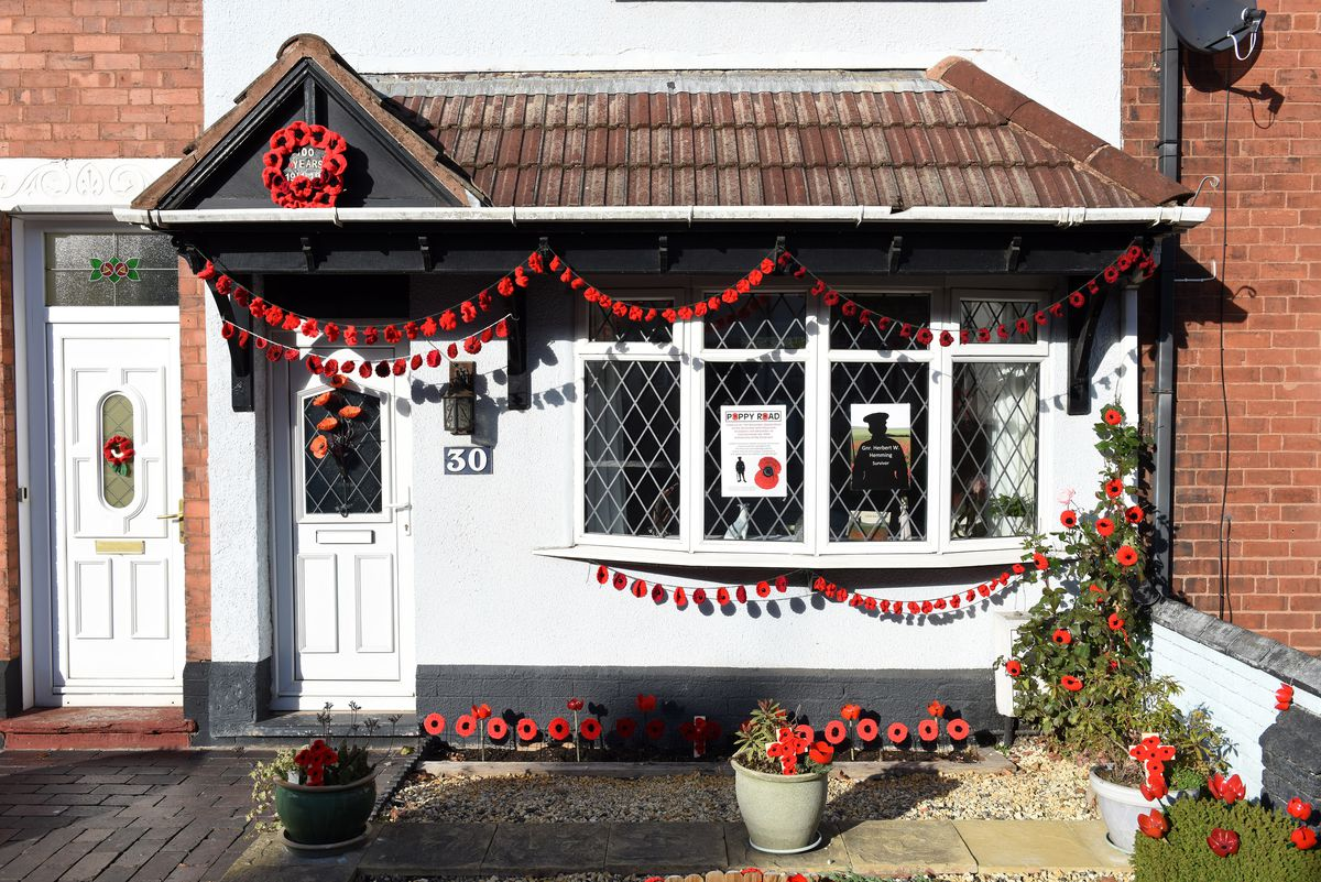 Another of the homes which has been decorated