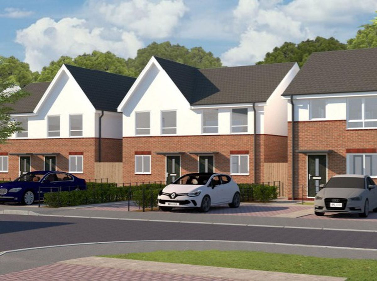 An artist's impression of proposed houses for Foredraft Street in Cradley. Photo: S P Faizey Chartered Architects.