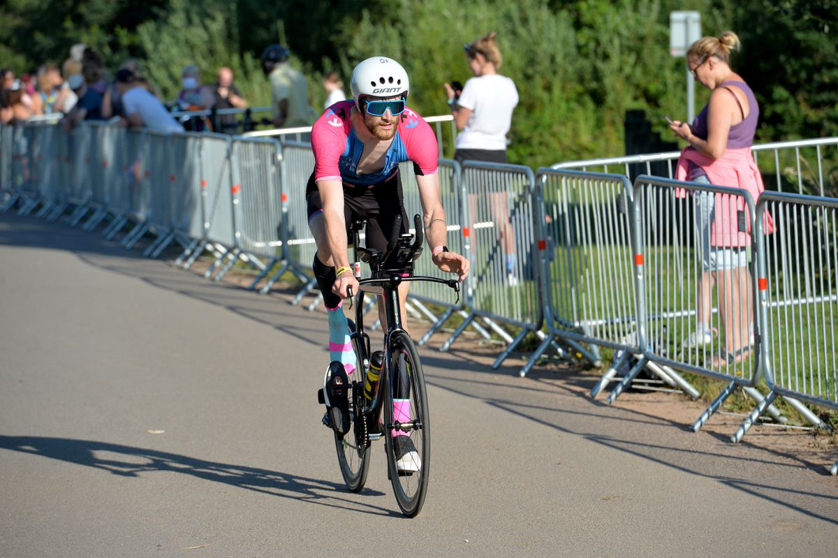 The cycle race was a tough 56 miles
