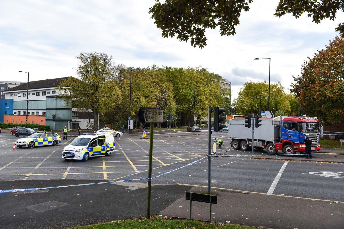 The scene in Birmingham yesterday