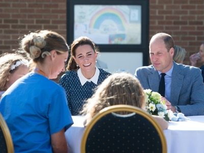 William praises 'fantastic' NHS as royal couple meet healthcare heroes