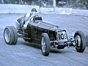 Smethwick born racing driver Ken Wharton, takes part in the Prescott Hill Climb, in 1956, driving a ERA R4D.