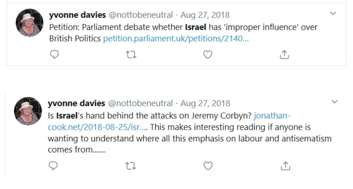 Tweets posted by Councillor Yvonne Davies in 2018